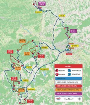 Rally Croatia route