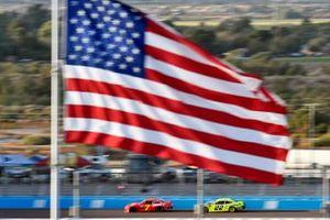 Justin Allgaier, JR Motorsports, Chevrolet Camaro BRANDT and Austin Cindric, Team Penske, Ford Mustang Menards/Richmond