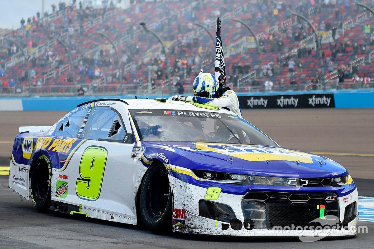 Campeón Chase Elliott, Hendrick Motorsports, Chevrolet Camaro