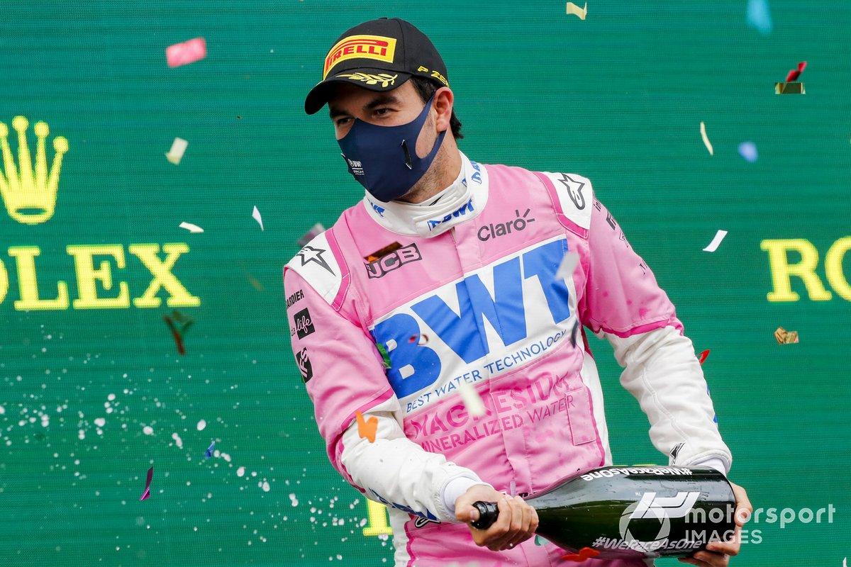 Podio: segundo lugar Sergio Pérez, Racing Point