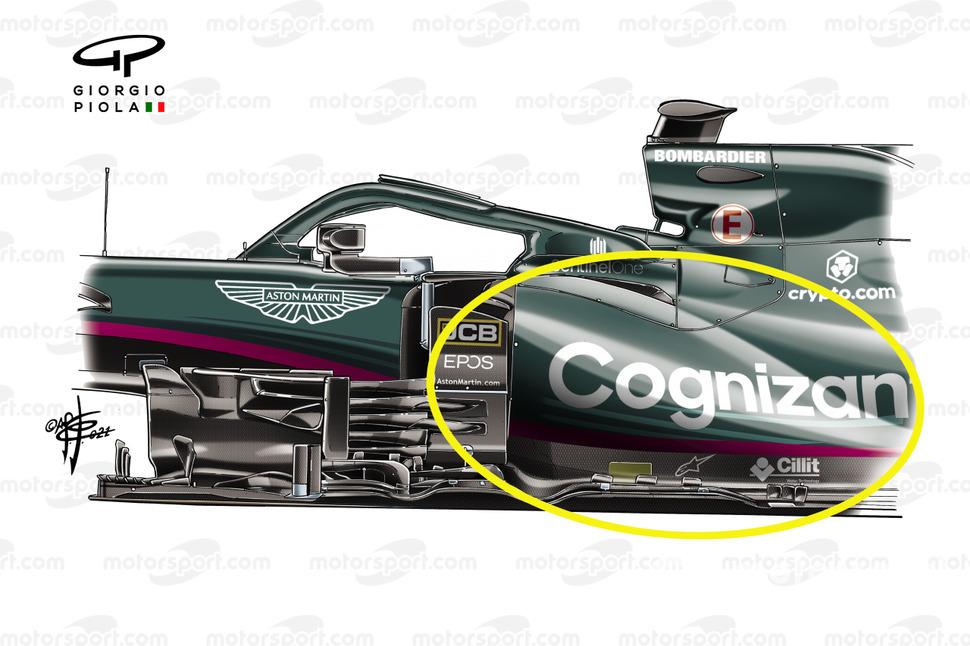 Понтоны Aston Martin Racing AMR21