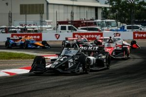 Sebastien Bourdais, A.J. Foyt Enterprises Chevrolet, Rinus VeeKay, Ed Carpenter Racing Chevrolet