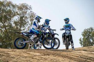 Van links naar rechts: Thibault Benistant, Jago Geerts en Maxime Renaux, Monster Energy Yamaha MX2 Factory Racing