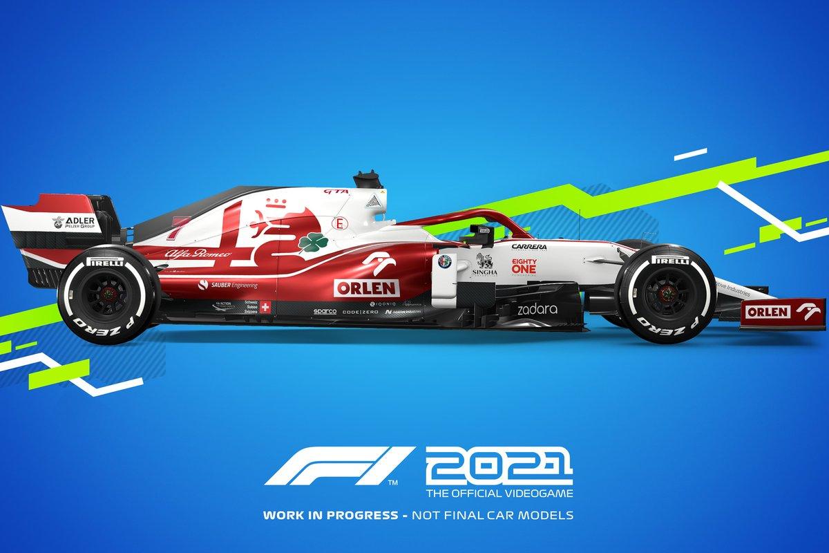 Decoración F1 2021 Alfa Romeo Racing