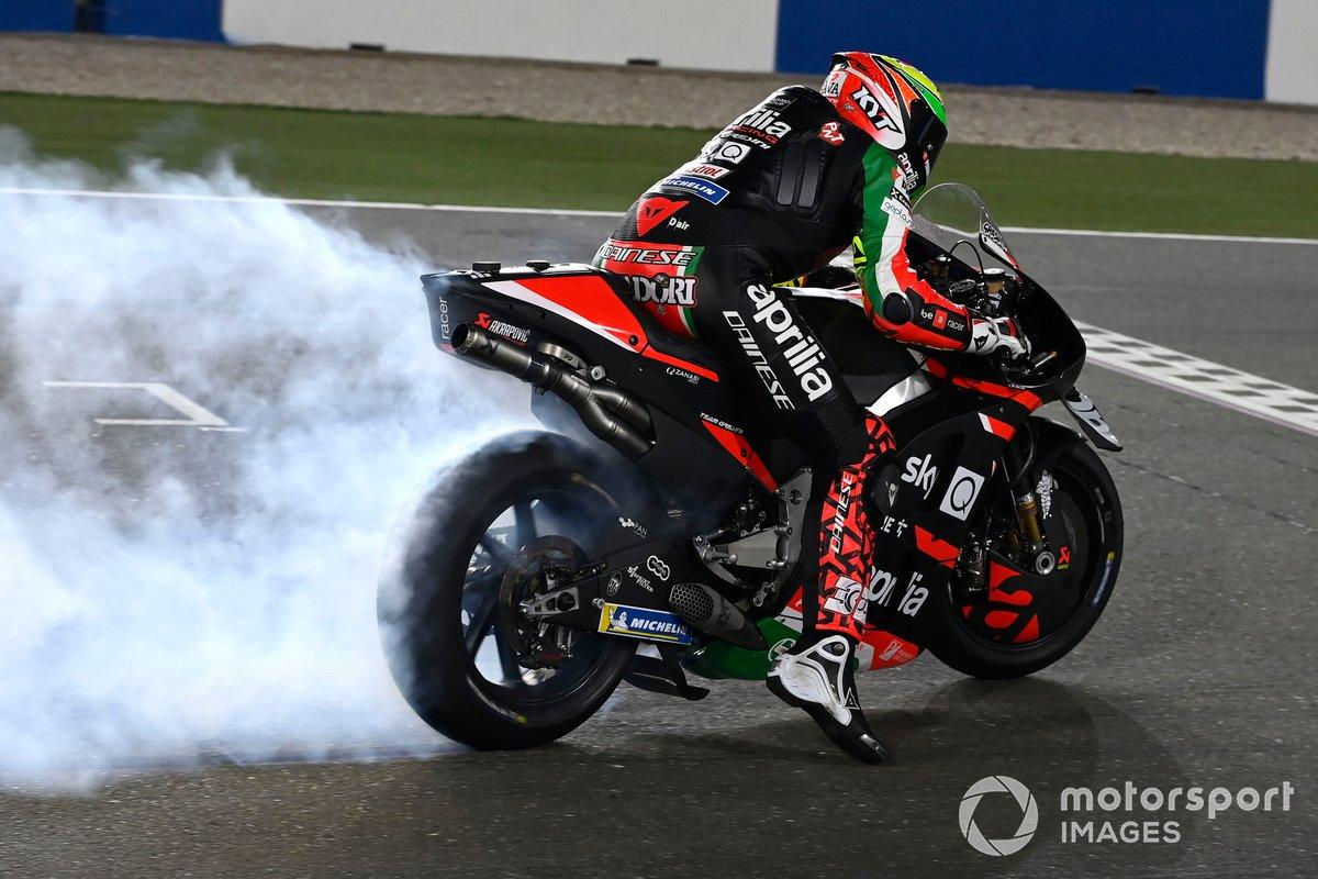 Lorenzo Savadori, Aprilia Racing Team Gresini, prove di partenza