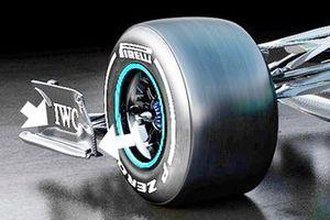 Mercedes AMG F1 W12 end plate