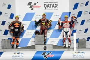 Sam Lowes, Marc VDS Racing Team, Remy Gardner, Red Bull KTM Ajo, Fabio di Giannantonio, Federal Oil Gresini Moto2 on the podium
