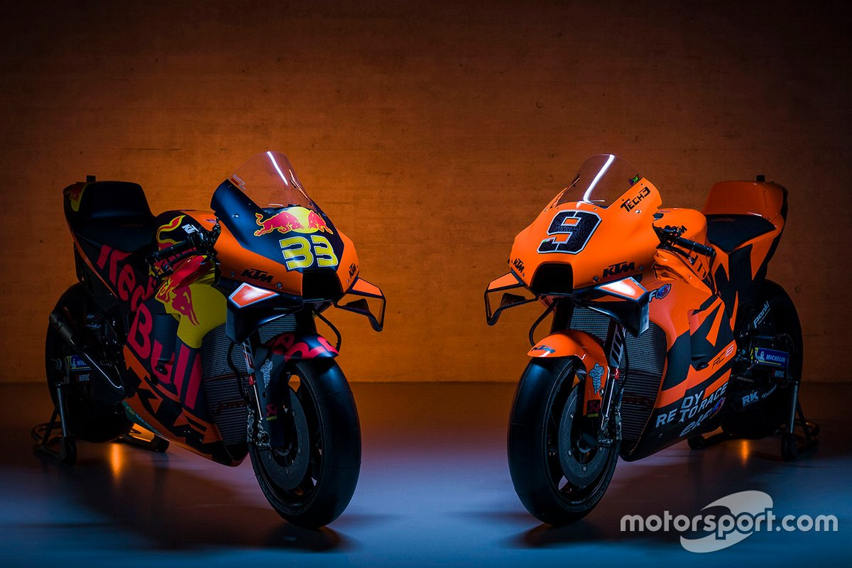 Red Bull KTM Factory Racing and Red Bull KTM Tech 3 bikes