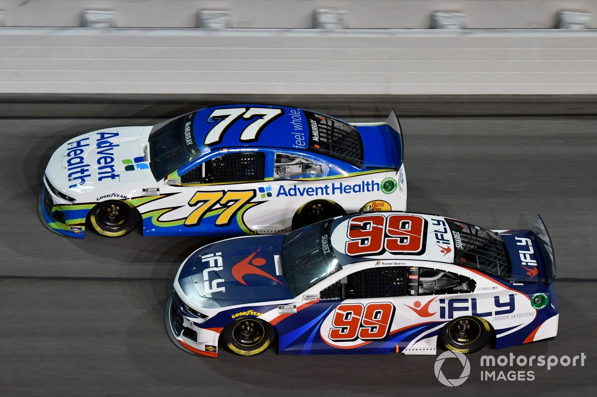 Daniel Suarez, TrackHouse Racing, Chevrolet Camaro iFly Jamie McMurray, Spire Motorsports, Chevrolet Camaro AdventHealth