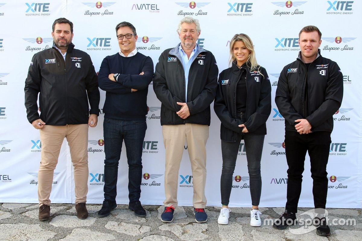 Sergio Martínez, CEO di Hispano Suiza, Miguel Suquè, presidente di Hispano Suiza, Christine Giampaoli, e Oliver Bennett, Presentazione Hispano Suiza Extreme E