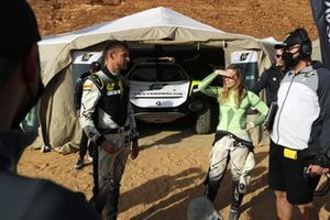 Jenson Button, JBXE Extreme-E Team, and Mikaela Ahlin-Kottulinsky, JBXE Extreme-E Team