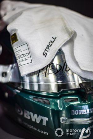 Helmet of Lance Stroll, Aston Martin
