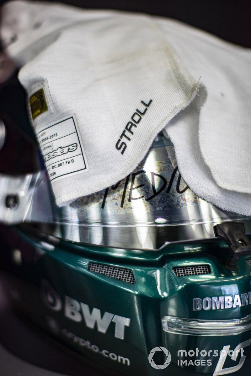 Casco di Lance Stroll, Aston Martin