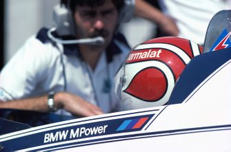 Gordon Murray avec Nelson Piquet, Brabham BT50
