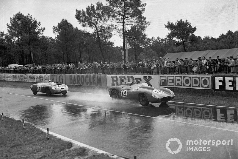Phil Hill, Olivier Gendebien, Ferrari 250TR, precede Gerard Laurean, Louis Cornet, D.B.HBR4 Panhard