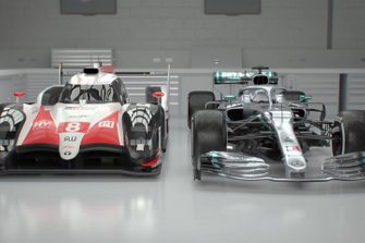 Toyota LMP1 car and Mercedes F1 car comparison
