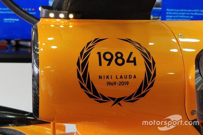 Hommage de McLaren à Niki Lauda
