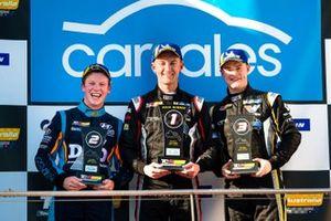 Podium: Race winner Dylan O'Keeffe, Ashley Seward Motorsport, second place Will Brown, HMO Customer Racing, third place James Moffat, Garry Rogers Motorsport
