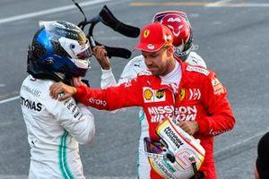 Le poleman Valtteri Bottas, Sebastian Vettel, Ferrari