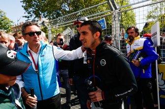 Alejandro Agag, CEO, Formula E, with Sébastien Buemi, Nissan e.Dams