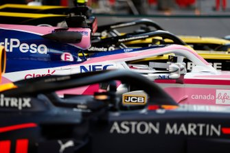 Red Bull Racing RB15, Racing Point RP19 and Renault R.S.19