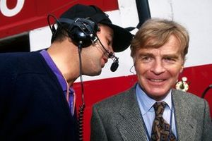 Nick Wirth, Simtek Team Principal talks with Max Mosley, FIA President about tragic death of Roland Ratzenberger