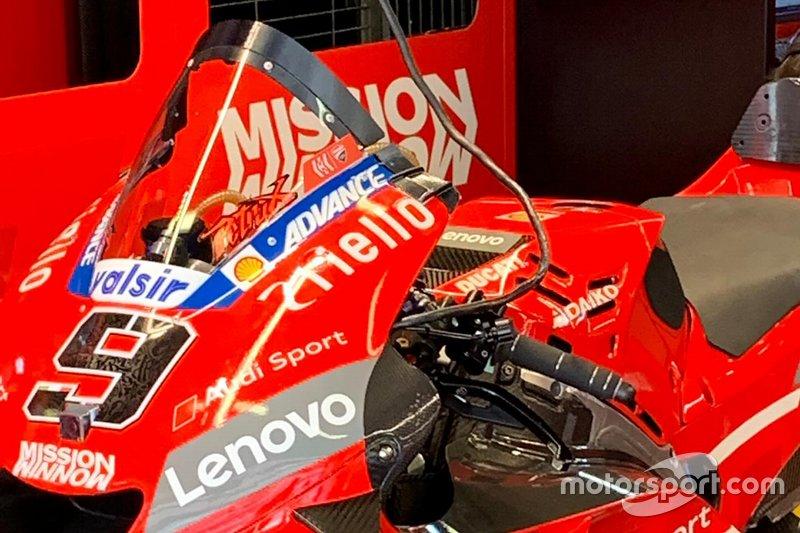 Ducati Team dettaglio schermo