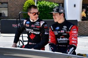 Raphael Lessard, Kyle Busch Motorsports, Toyota Tundra Spectra Premium and Harrison Burton, Kyle Busch Motorsports, Toyota Tundra Safelite AutoGlass