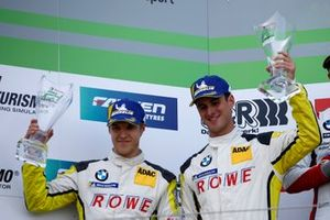 Podium: tweede #99 Rowe Racing BMW M6 GT3: Jesse Krohn, John Edwards