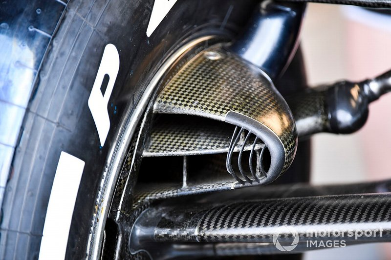 Brake ducts on the Red Bull Racing RB15