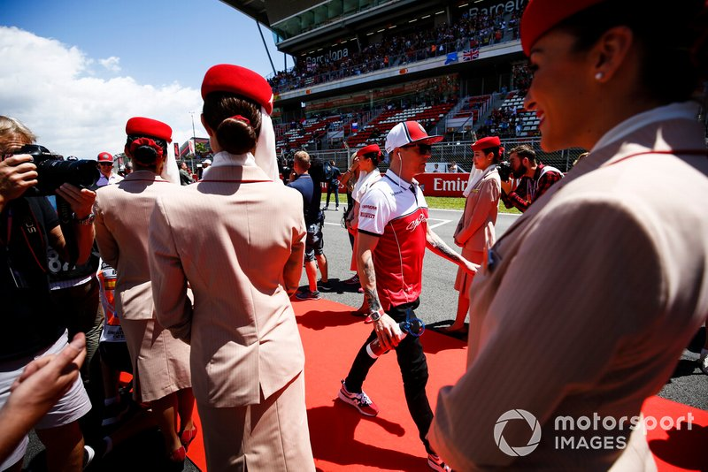 Kimi Raikkonen, Alfa Romeo Racing, at the drivers parade