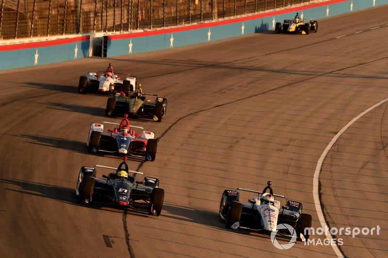 Spencer Pigot, Ed Carpenter Racing Chevrolet, Graham Rahal, Rahal Letterman Lanigan Racing Honda