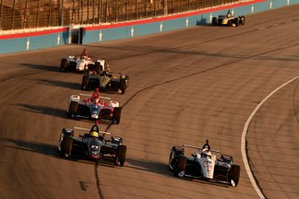 Spencer Pigot, Ed Carpenter Racing Chevrolet, Graham Rahal, Rahal Letterman Lanigan Racing Honda