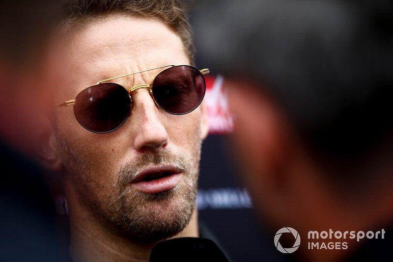 Romain Grosjean, Haas F1, parla con i media
