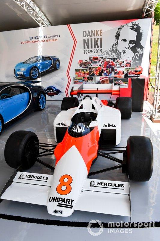 McLaren MP4-2 de Niki Lauda em exibição no Red Bull Ring