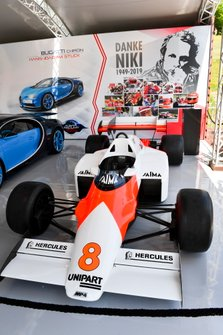 Car of Niki Lauda McLaren MP4-2 on display