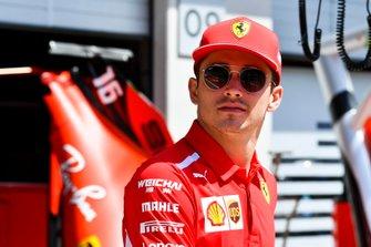 Charles Leclerc, Ferrari in the pit lane
