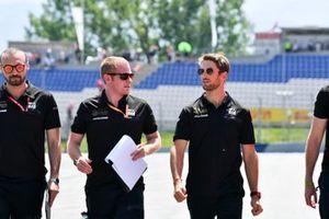 Romain Grosjean, Haas F1 fait un trackwalk avec son équipe