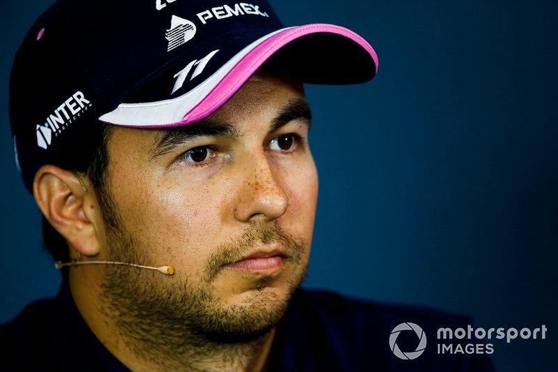 Sergio Perez, Racing Point, en conférence de presse
