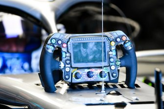 The steering wheel of Valtteri Bottas, Mercedes AMG W10