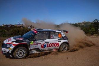 Kajetan Kajetanowicz, Maciej Szczepaniak, Skoda Fabia R5, WRC 2, Rally Sardegna