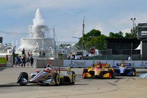Will Power, Team Penske Chevrolet, Ryan Hunter-Reay, Andretti Autosport Honda, Alexander Rossi, Andretti Autosport Honda
