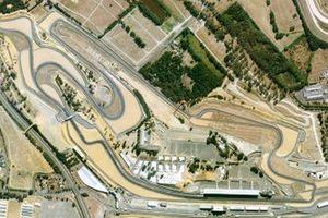 Vue aérienne du circuit Bugatti du Mans