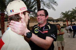 Romain Grosjean, Eric Boullier, Lotus F1 Team