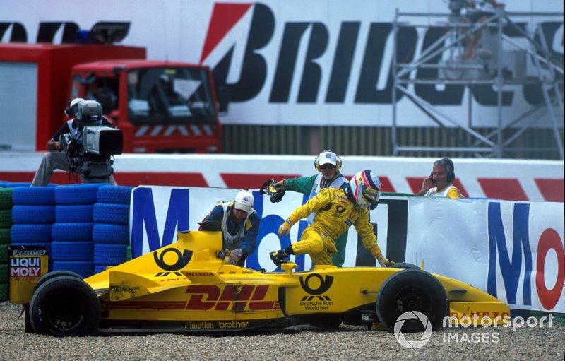 Crash: Takuma Sato, Jordan EJ12