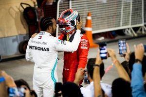 Lewis Hamilton, Mercedes AMG F1 en Charles Leclerc, Ferrari