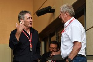 Mick Doohan, former 500cc Motorcycle world champion, Helmut Markko, Consultant, Red Bull Racing