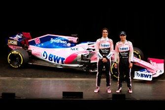 Lance Stroll, Racing Point F1 Team y Sergio Perez, Racing Point F1 Team con el Racing Point F1 Team RP19