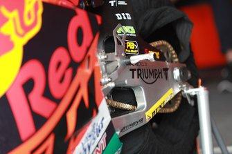 Dettaglio della moto di Brad Binder, KTM Ajo