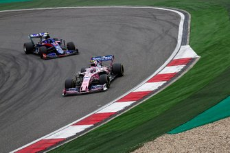Lance Stroll, Racing Point RP19, leads Alexander Albon, Toro Rosso STR14